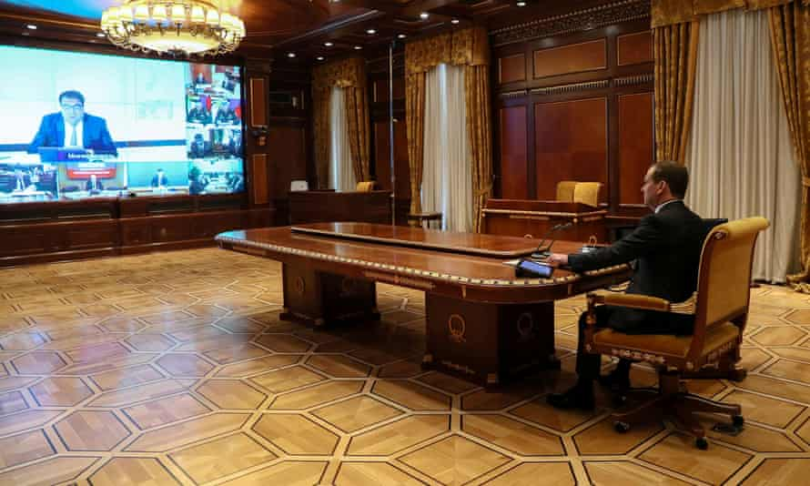Dmitry Medvedev conducts video conference