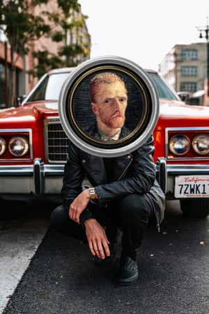 Self-Portrait by Vincent Van Gogh photographed by Michael Thibault