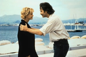 Meg Ryan and Kevin Kline in French Kiss.