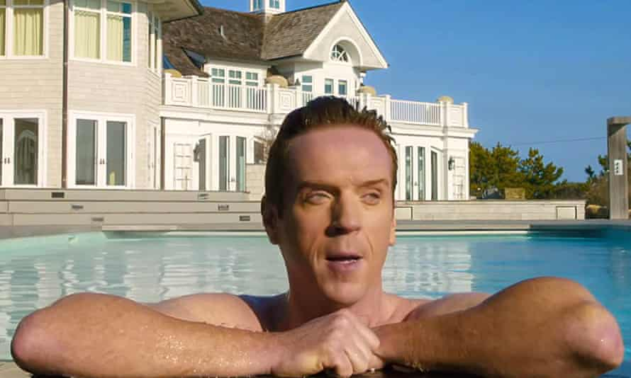 Damian Lewis as Bobby Axelrod in Billions – a man with working class roots … and an $84m mansion in the Hamptons.