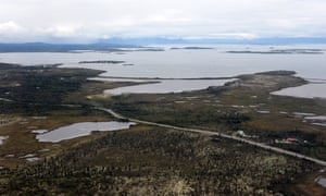 The village of Ilamna, Alaska, is just a small cluster of buildings around crystal-clear Lake Iliamna, a nursery for wild salmon, which faced 'unavoidable adverse impacts' from the Pebble mine.