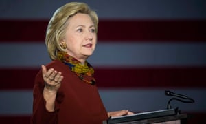Democratic presidential candidate Hillary Clinton talks about her counterterrorism strategy during a campaign stop in Minneapolis.