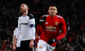 4f268331 Manchester United's Jesse Lingard and Romelu Lukaku end Derby's resistance
