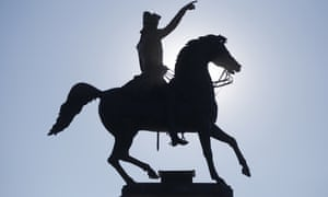 A statue of George Washington in Richmond, Virginia. Donald Trump proposes establishing a 'National Garden of American Heroes' that will pay tribute to some of the most prominent figures in US history.