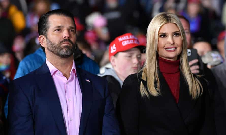 Donald Trump Jr and Ivanka Trump