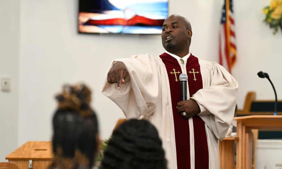 Rev Kenneth B Thomas Sr, pastor of Bethesda Worship and Healing Center in Jonesboro, Arkansas, encourages vaccinations amongst his members.