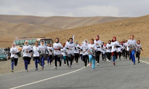 The marathon in Bamiyan, the first event of its kind in Afghanistan