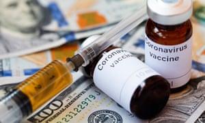 Vials labelled 'Coronavirus vaccine'