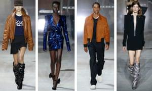 models at Saint Laurent AW17