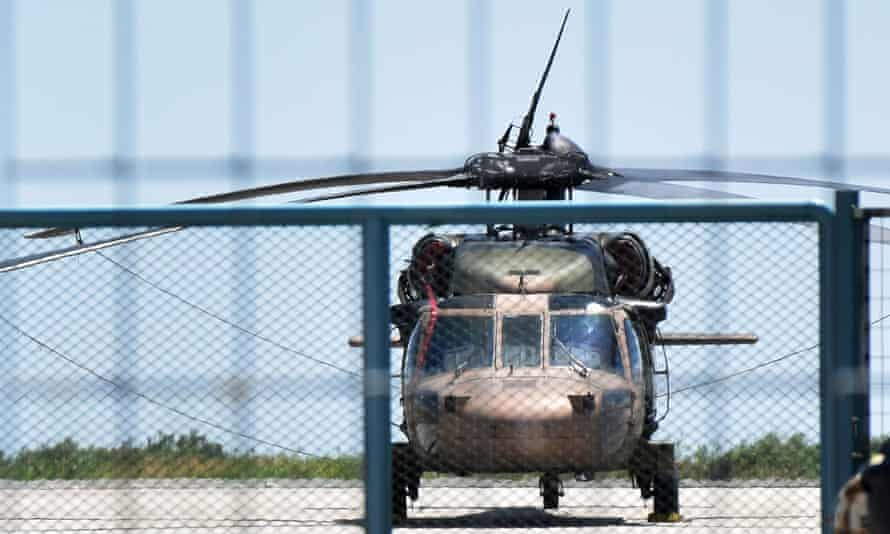 Turkish military helicopter.