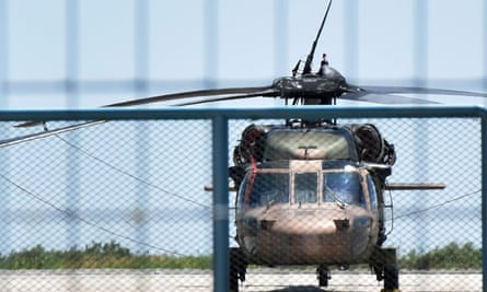 Turkish military helicopter at Alexandroupolis airport