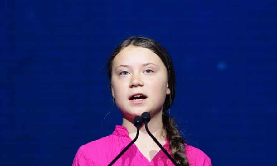 Greta Thunberg at the R20 Austrian world summit.