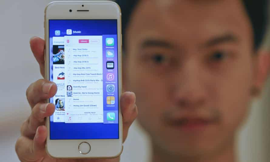 iOS 9 on an iPhone 6