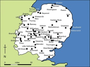 The volunteers excavated in six eastern counties, at 55 currently occupied rural locations also known to have been 14th century settlements.