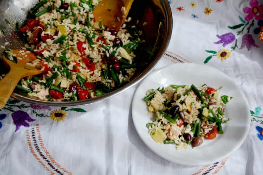 Rachel Roddy's rice salad.