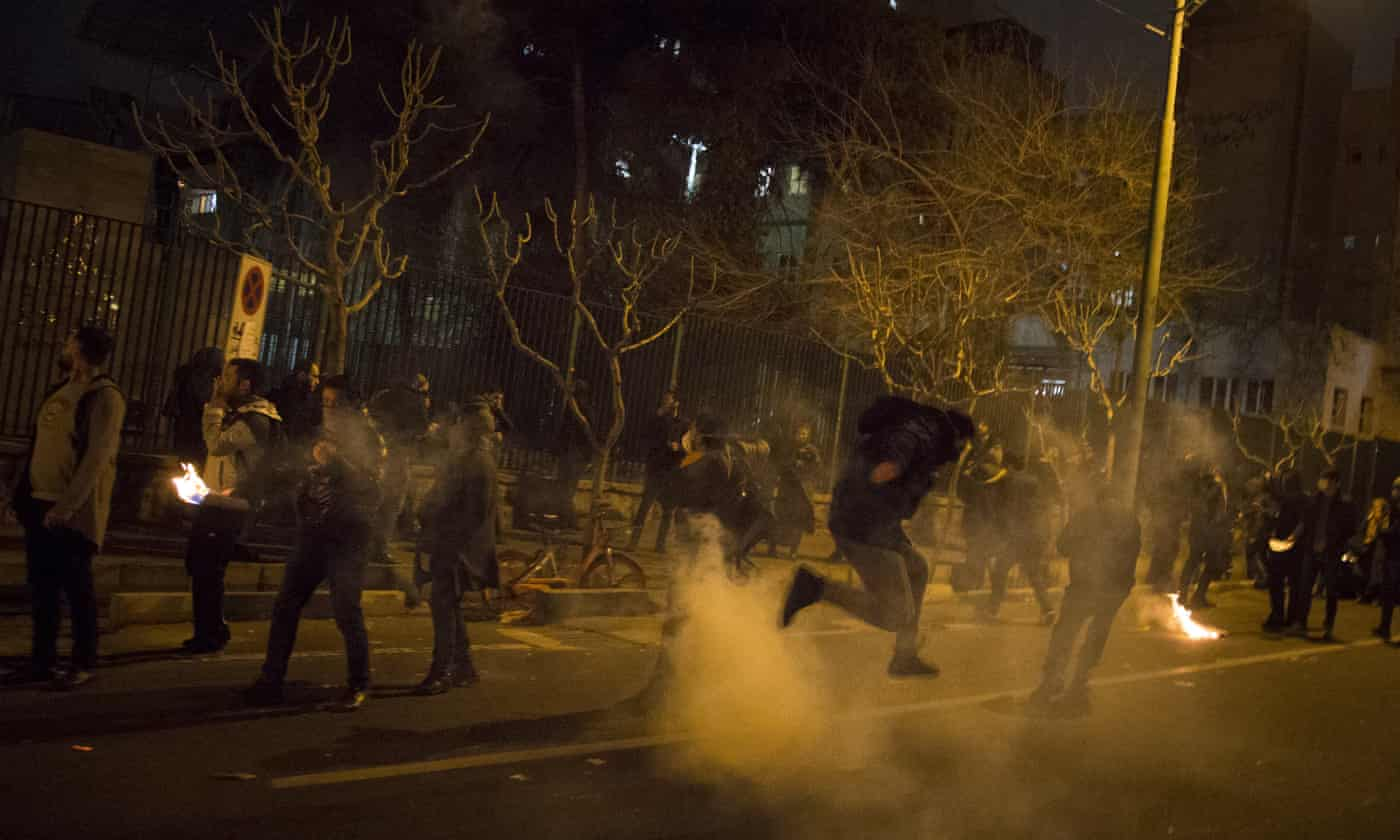 Protests and teargas as Iran faces public anger over aircraft downing