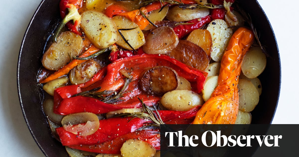 Nigel Slater's recipe for sautéed peppers and potatoes
