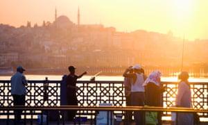 City life … Galata Bridge in Istanbul.