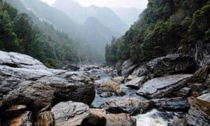 Franklin River below The Churn rapid, Franklin-Gordon wild rivers national park.