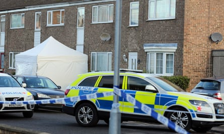 Cambridgeshire police at an incident in St Neots.