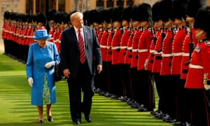 Donald Trump: 'I was about 15 minutes early and I'm waiting with my wife and that's fine. Hey, it's the Queen, right? We can wait. But I'm a little early.'