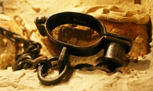 Shackles used to control slaves