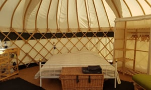 Bell tents at Stavehol, Bornholm, Denmark
