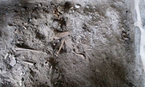 Archaeologists say the bones at the site in Mount Athos are so small they could belong to a woman.