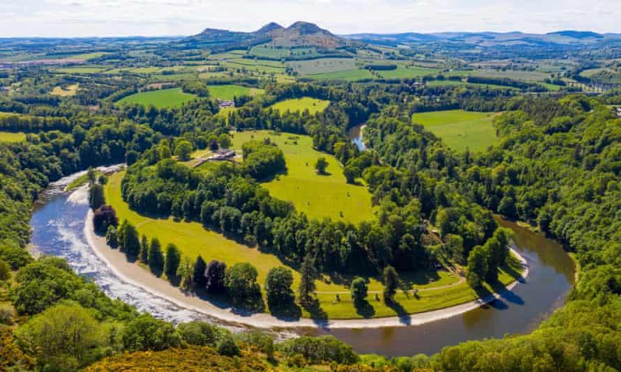 Scott's View, el río Tweed y las colinas de Eildon.