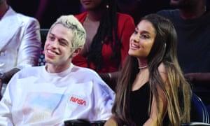 Ariana Grande with her ex Pete Davidson.