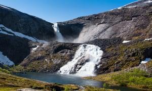 Sotefossen waterfall Norway.