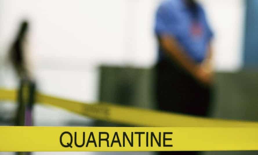 A quarantine officer
