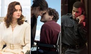 Jake Gyllenhaal in Stronger, Brie Larson in The Glass Castle, and John Boyega in Detroit.