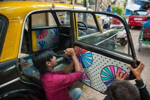 Taxi Fabric is a design scheme in Mumbai invites young graphic designers to redesign taxi interiors