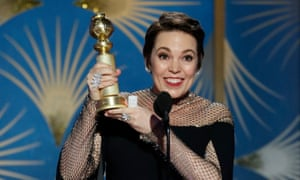 Olivia Colman, winner of best actress – motion picture, musical or comedy.