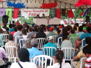 A campesino congress discussing the struggle for agrarian reform