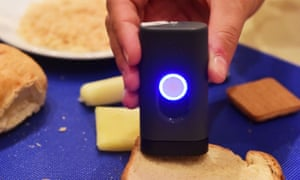 Scio is used here in another capacity: to analyze food content.