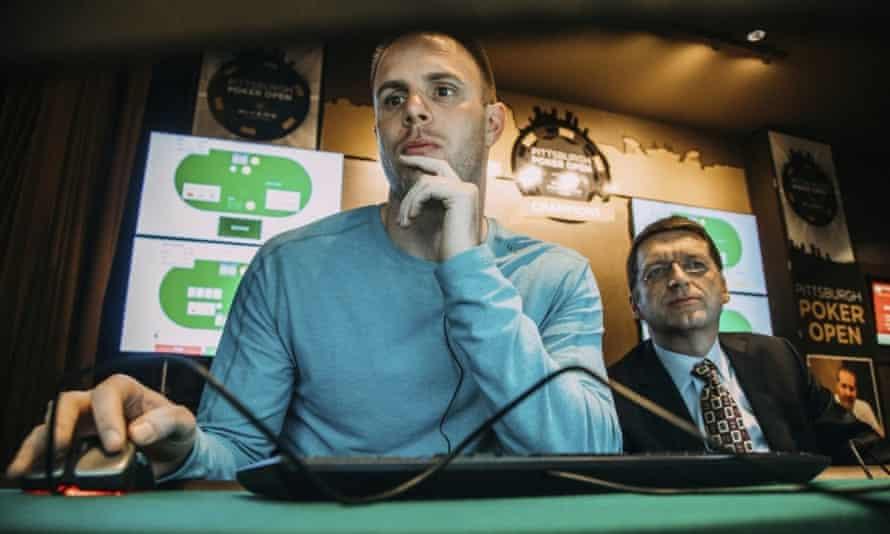 Professional poker player Jason Les plays Libratus.