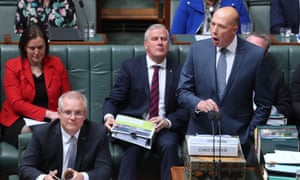 Peter Dutton during a heated question time on Tuesday