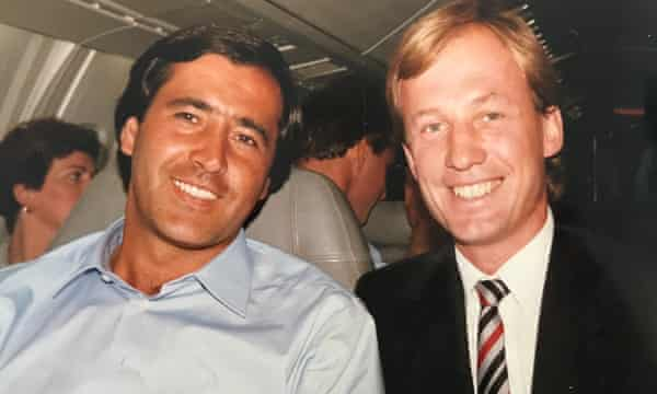 Steve Humphreys meets Seve Ballesteros on Concorde in 1987