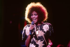 American Singer Whitney Houston on Stage
