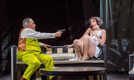 Dramatic … James Morris as Dr Schön and Brenda Rae as Lulu at the Coliseum, London.