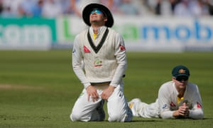 Dejection for Michael Clarke and Steve Smith after they dropped Cook off Starc