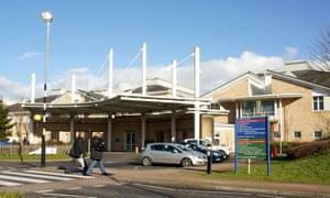 The Royal Glamorgan hospital in Llantrisant, south Wales.