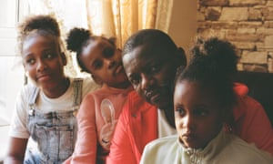 Sama, with daughters (from left) Majidah, Samarah and Kalisha.