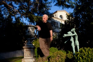 Jimmy Boyle in the garden of his home in Antibes, France, March 2016.