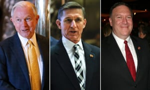 Jeff Sessions for Attorney General, Michael Flynn for NSA and Mike Pompeo for CIA