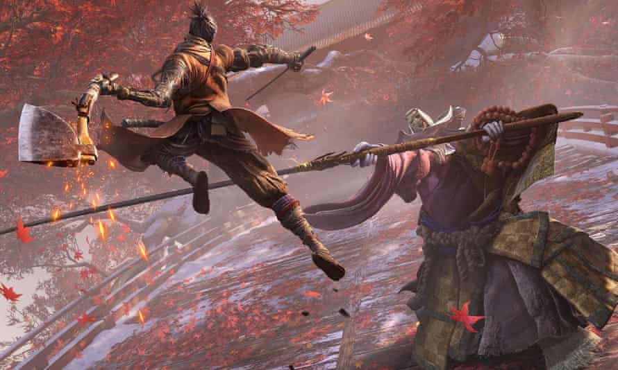 To the east and down ... Sekiro: Shadows Die Twice.