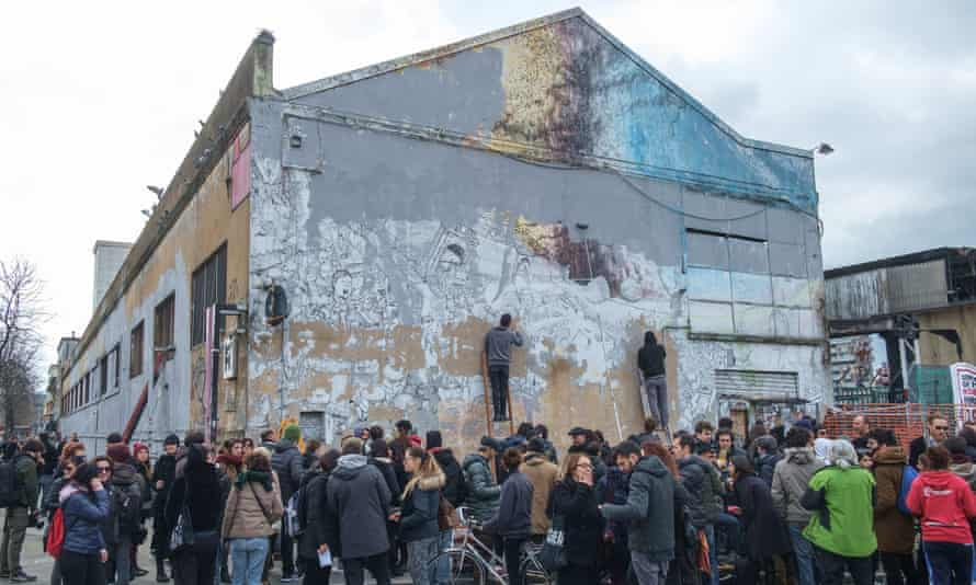 Legitimate owners … the murals taken by the museum were on derelict buildings.