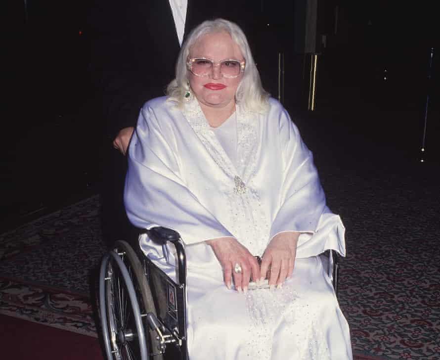 Platinum wig and rhinestones … Peggy Leein 1995.